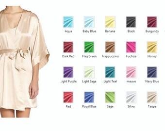 Womens Silk Robe/ Kimono/ Nightwear / Sleepwear / Lounge wear / Bridal - Multiple Colors and Sizes
