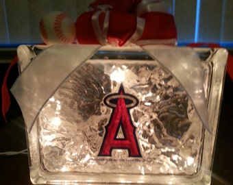 LOS ANGELES ANGELS of Anaheim Lighted Glass Block