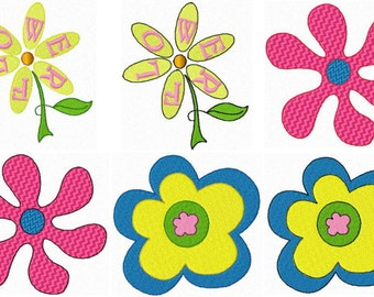 22 Groovy Peace Embroidery Design Files 4x4