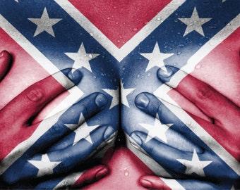 Confederate Flag Southern Rebel Native America Boobs