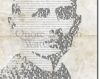 FRANZ KAFKA Beautiful Typographic Poster