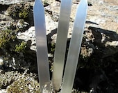"""Stainless Steel Herb Stakes (10), 5/8"""" x 6"""", 24 gauge, Flower stakes, Garden stakes, Plant markers, Hand Stamping Supplies"""