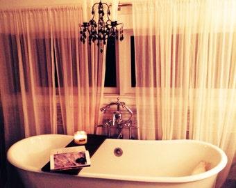 Distressed Wooden Bathtub Shelf - Custom Bathtub Caddy - Vintage