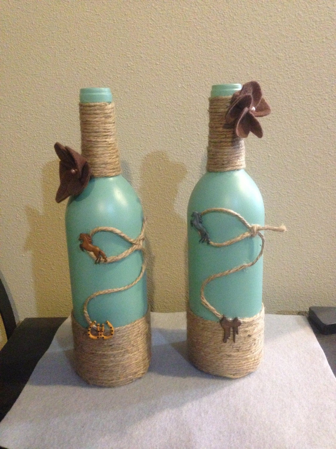 Western Decor Wine Bottle By Sweetlouieoriginals On Etsy