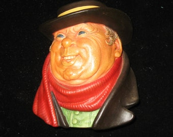 Bosson Chalkware Wall Decoration - Tony Weller - Made in England