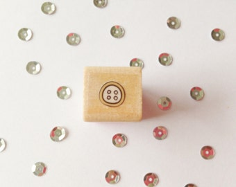Square Stamp button, 1, 5 cm wide, 1, 5 cm long
