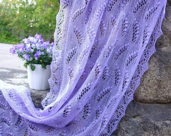 Estonian Lace, Haapsalu Shawl - Inverted Lily-of-valley - incredible soft!