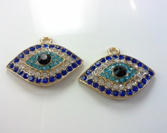 3 pcs Evil eye pendant. Evil eye charms.Evil eye jewelry