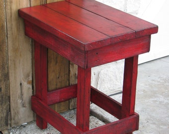 Medium RED End Table, Side Table, Nightstand, Other colors available!!