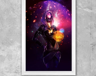 Large 11 x 17 Mass Effect Tali'Zorah vas Normandy Print