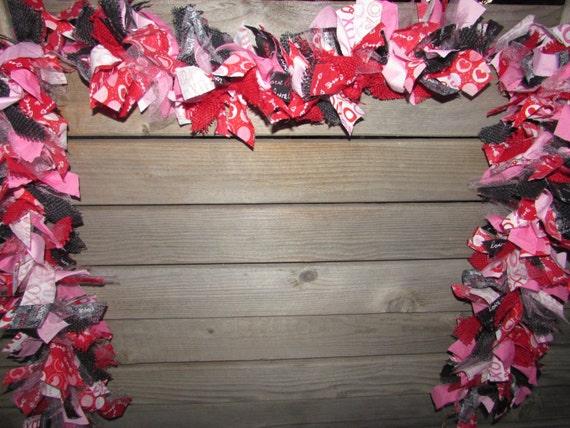valentines day fabric rag tie garlands valentines day wikii