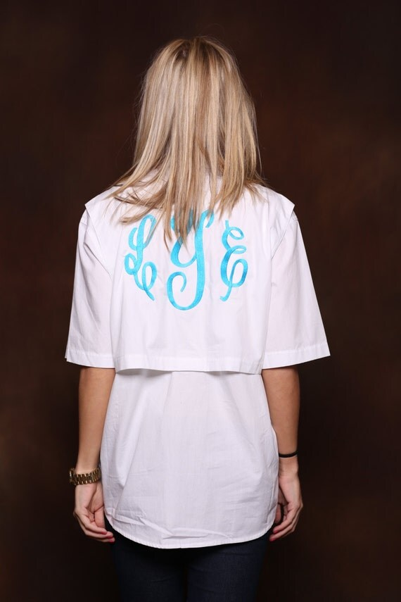 Monogram fishing shirt southern prep large back monogram for Monogram fishing shirt