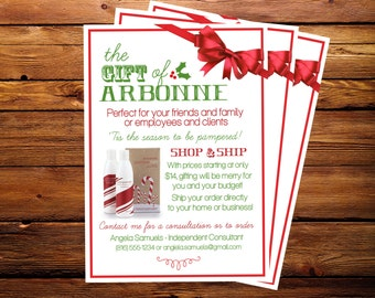 Holiday Arbonne Promotional Flyer - 5x7 Printable