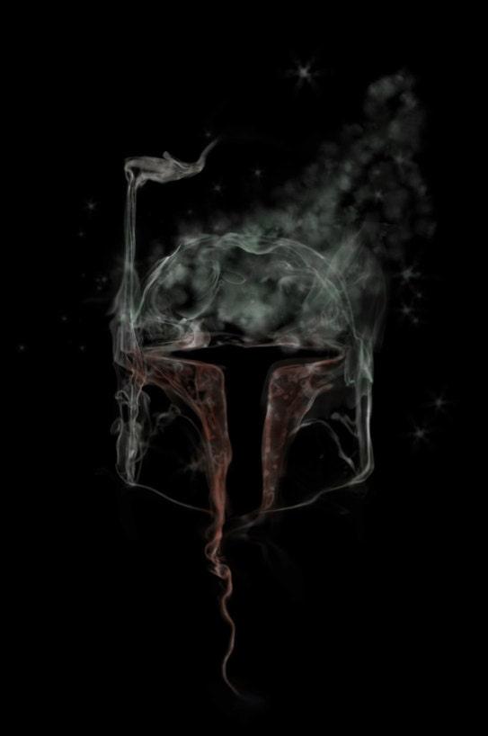 star wars movie poster boba fett smoke art print by thunderdoam
