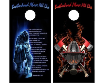 2 X Cornhole Decals 24 Quot X 48 Quot Graphics Firefighters Prayer