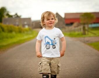 Old MacDonlad T-shirt (Blue Tractor)