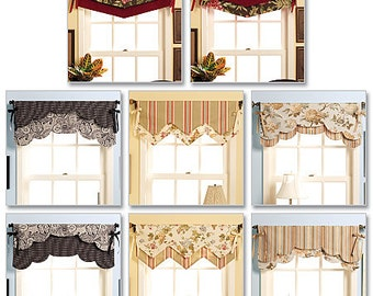 Butterick Sewing Pattern B5369 Fast and Easy Reversible Valances