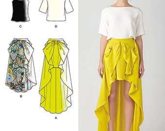 Simplicity Sewing Pattern 1366 Misses' Skirt & Top Cynthia Rowley Collection