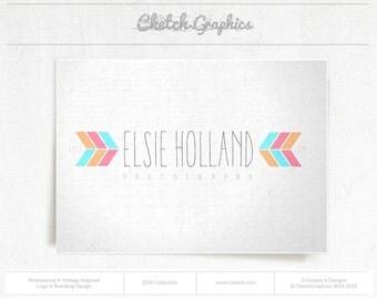 """Pre-made Logo Design - Vintage Logo Design - """"Elsie Holland"""""""