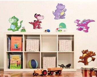 Baby Dino Set nursery wall decal, deco, sticker, mural, vinyl wall art