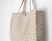 Tote bag / Japanese pattern / hand screen print