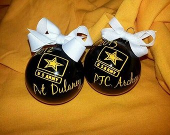 U.S. Army ornament personalized.