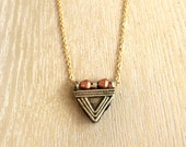 African Triangle Necklace