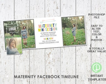 Maternity Facebook Timeline Photoshop Template - F1M003