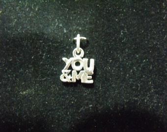 Sterling Silver You & Me Charm/Pendant  - .925  0.8 grams