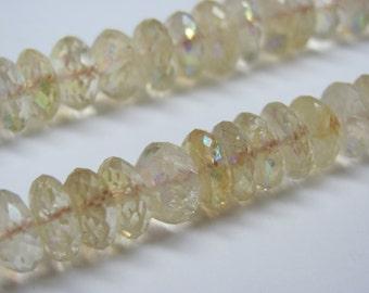 Citrine Roundelle All Natural Gemstone Bead Strand