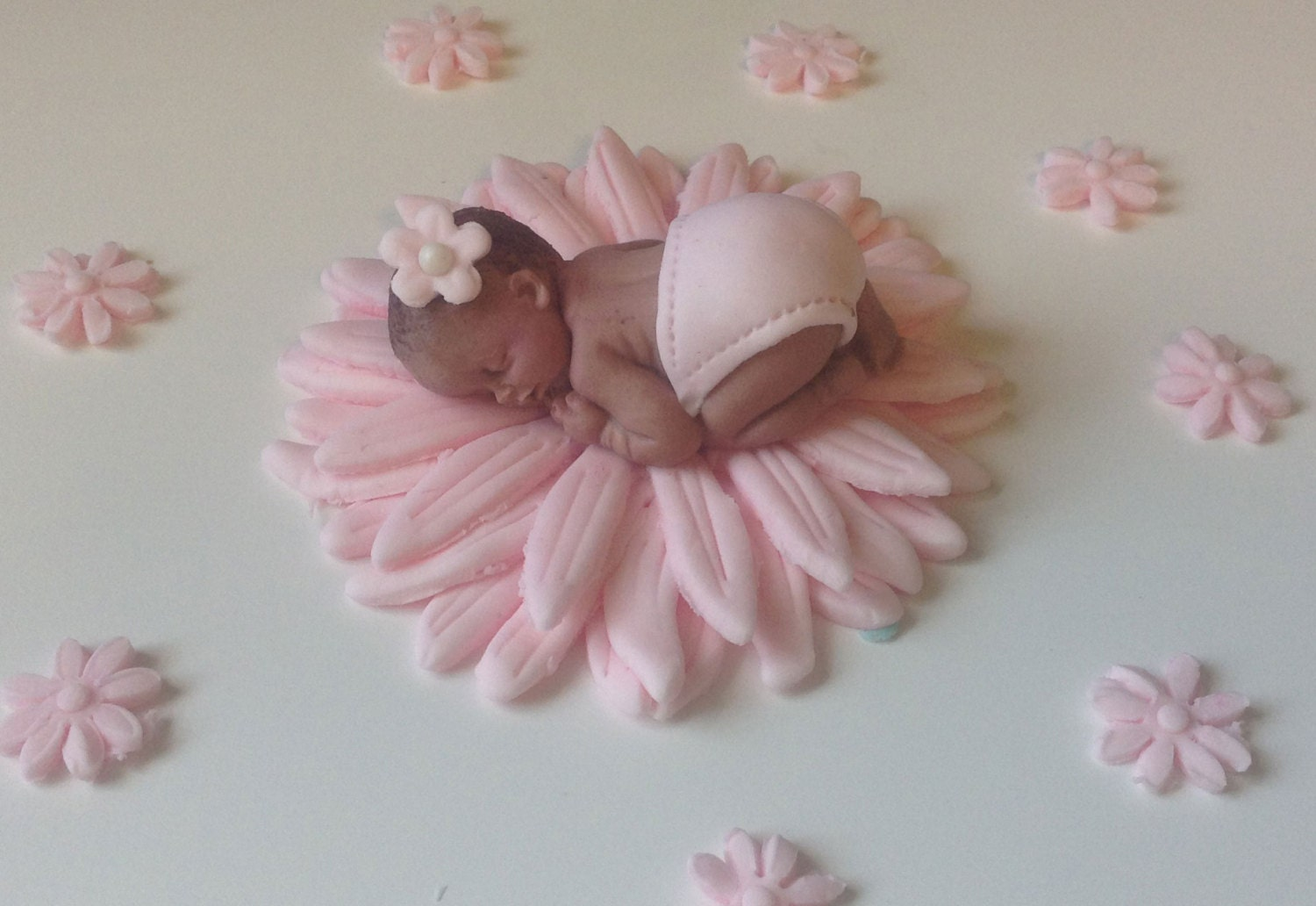 Cake Toppers Baby Shower Girl : FONDANT CAKE TOPPER Baby Shower Cake First by ...