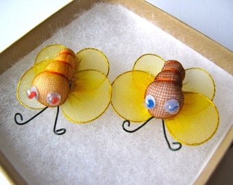 2 Bee Brooches