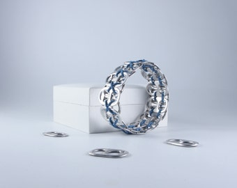 Blue Stretchy Pop Tab Bracelet