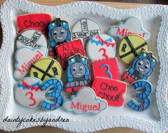 1 dozen Thomas the train cookie collection