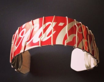 Awesome Upcycled Coca-Cola Can Bracelet!