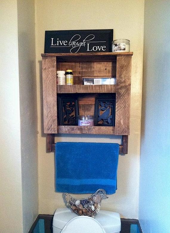 items similar to pallet shelf bathroom towel rack. Black Bedroom Furniture Sets. Home Design Ideas