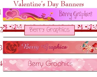 Valentine's Day Single Banners