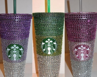 Crystal Ombre Starbucks Cold Cup