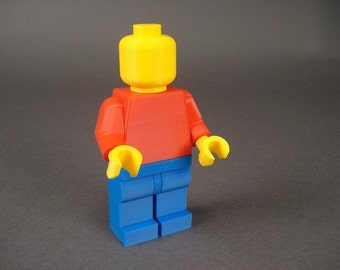 3D Printed Giant 7 inch Plain Lego style Mini-fig