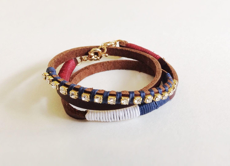 patriotic jewelry wrap leather bracelet bracelet