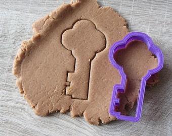 Golden key cookie cutter