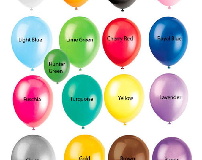 Latex Balloons FAST shipping USA - 12 Inch - Quantity of 20 Red, Yellow, Blue, Purple, Green, Rainbow Colors, Bulk Balloons, American