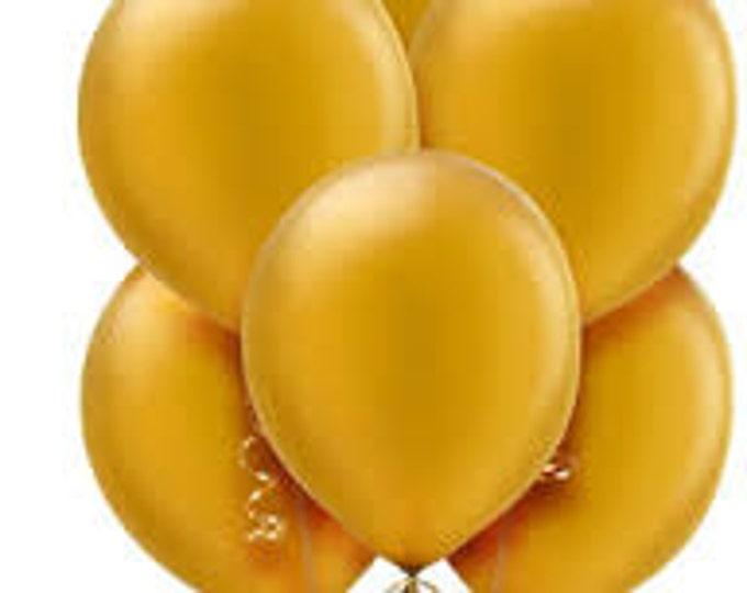 Gold Balloons Bulk 12 Inch, Metallic Looking Gold Wedding, Holiday, Party Balloons 50 bulk Pack