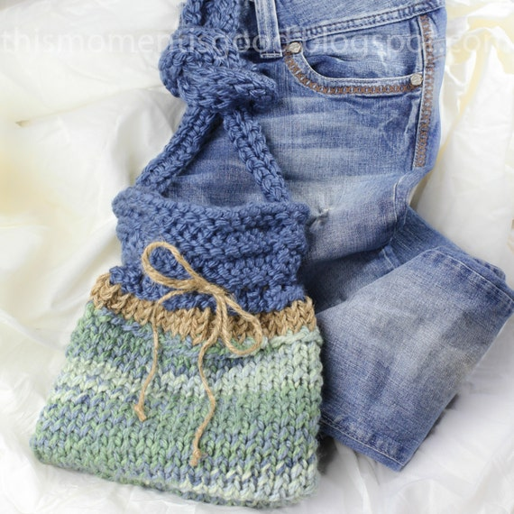 Loom Knit Handbag Pattern. Quick and Easy Loom Knitting Pattern For A Super C...