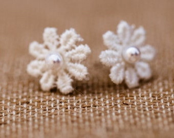 Lace Flower Stud Earrings (The Emma Earrings)