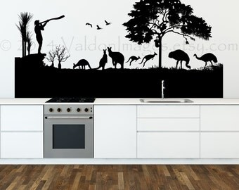 Kangaroo Wall Decals Etsy - Vinyl wall decals australia
