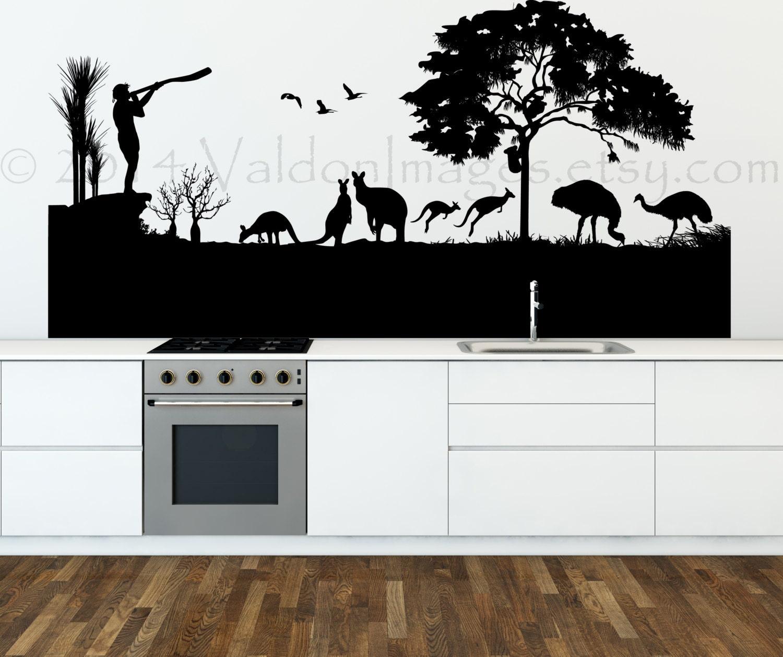Australian Landscape Wall Decal Vinyl Wall Decal Australia - Custom vinyl decals australia