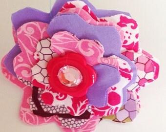 Pink & Purple Girl Collar Flower for Female Dog or Cat