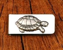 Tortoise Money Clip Mens Engraved Turtle Gift