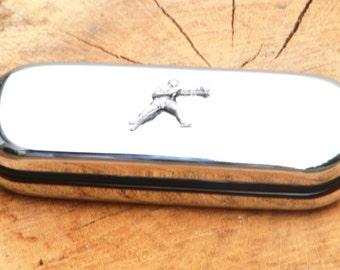 Boxer Metal Pen Case & Ball Point Set Boxing Gift FREE ENGRAVING